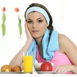 Having breakfast Royalty Free Stock Image