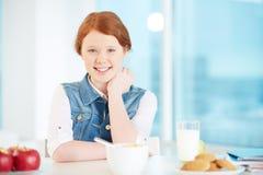 Having breakfast Stock Images