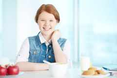 Having breakfast Royalty Free Stock Images