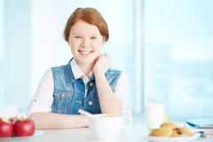 Having breakfast Royalty Free Stock Images