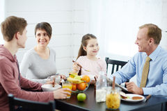Having breakfast Royalty Free Stock Photography