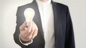 Having a bright idea stock video
