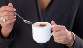 Having cappuccino Stock Image
