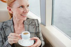 Having coffee-break Stock Photography