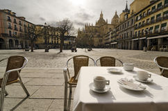 Have a Coffee. Segovia Stock Photography