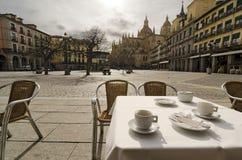 Have a Coffee. Segovia Stock Photography