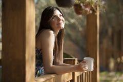 Having coffee on a sunny morning Royalty Free Stock Photos