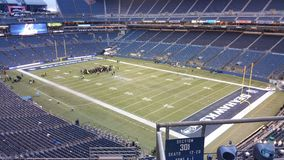Having a conference before the football game in Seattle Stock Photo