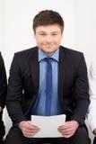 Having CV in his hands Stock Photos