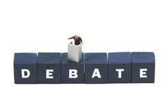 Having a debate Stock Images