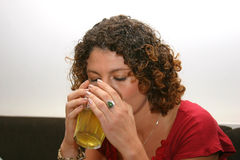 Having a drink Royalty Free Stock Image