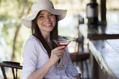 Having a drink at a bar Royalty Free Stock Images