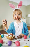 Having Easter dessert Stock Image