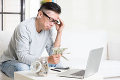 Having financial problem Royalty Free Stock Photography