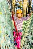 Having fun in adventure park Stock Photos