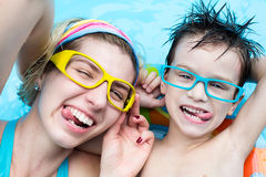 Rest in aquapark Stock Photography