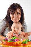 Having fun with baby #12 Royalty Free Stock Photo