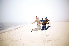 Having Fun at the Beach Stock Photos