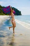 Having fun at the beach Royalty Free Stock Photography