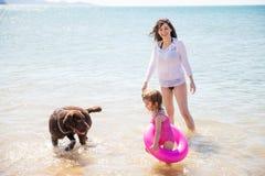 Having fun at the beach Royalty Free Stock Image