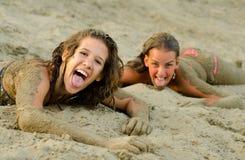 Having fun on the beach Stock Photos