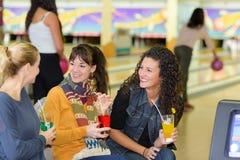 Having fun at bowling center Royalty Free Stock Photo