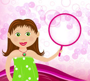 Having fun with bubbles Royalty Free Stock Photography
