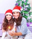 Having fun on Christmas Royalty Free Stock Photos