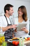 Having fun cooking Royalty Free Stock Photography