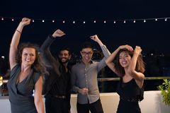 Having fun and dancing at the party Royalty Free Stock Photography