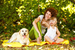 Having fun with dog in nature Royalty Free Stock Photo