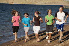 Having fun famiily jog Royalty Free Stock Photos