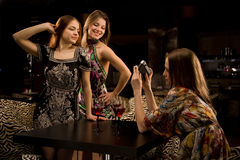 Having fun in the fancy nightclub Stock Photo