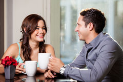 Having fun on a first date Royalty Free Stock Photos