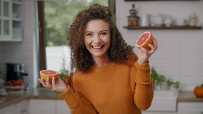 Having fun with fruit stock video