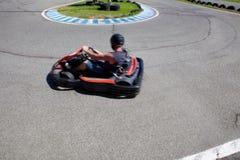 Having fun on a go cart Stock Image