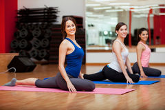 Having fun at the gym Stock Images