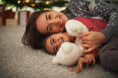 Having fun. Happy mother and daughter having fun and laughing Stock Photos