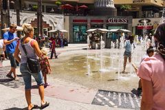 Having fun in Hollywood and Highland Center royalty free stock photography