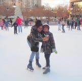 Having fun on the ice Stock Image