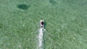 Jet ski on crystal clear water at Florida Keys. Having fun on a Jet ski on crystal clear water at Florida Keys Royalty Free Stock Images