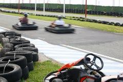 Having fun at karting track Stock Photography