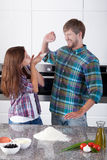 Having fun in the kitchen Royalty Free Stock Images