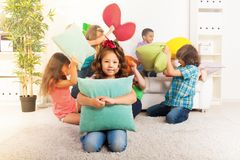 Having fun in living room Royalty Free Stock Images