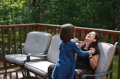 Having Fun with Mom Royalty Free Stock Photos