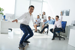 Having fun in office Royalty Free Stock Photography