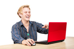 Having Fun Online Royalty Free Stock Photo