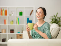 Having Fun Over A Cup Of Coffee Stock Photography