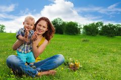 Having fun in the park Royalty Free Stock Photography