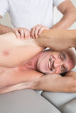 Having fun during physiotherapeutic treatment Stock Image
